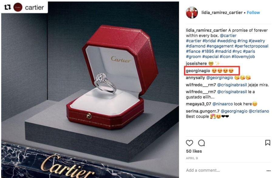 Cristiano Ronaldo reportedly engages girlfriend Georgina Rodriguez with
