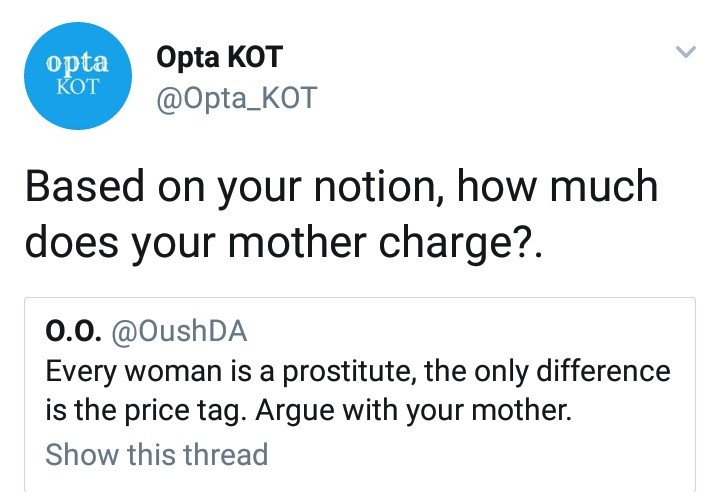 Male twitter user gets hot clapback after saying all women are prostitutes
