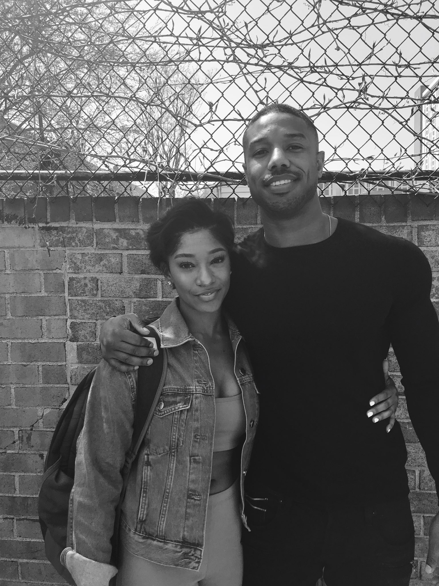 Lucky lady meets Michael B Jordan after sliding into his DM
