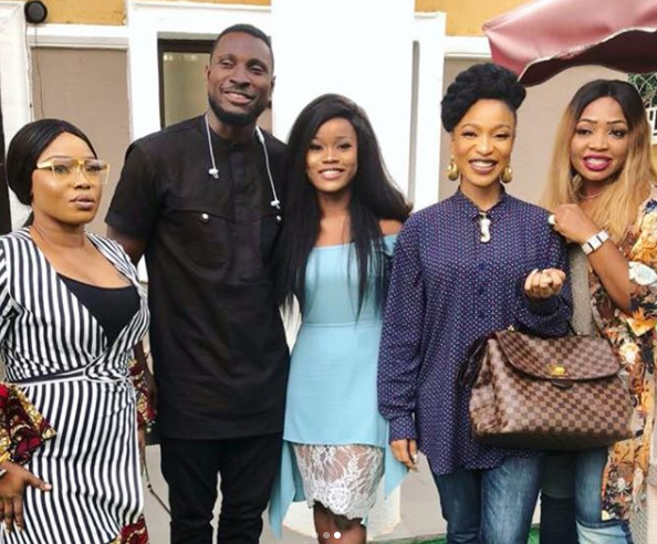 Deputy senate presidnet, Ike Ekweremadu hosts ex-BBNaija housemates Ceec and Angel(photos)