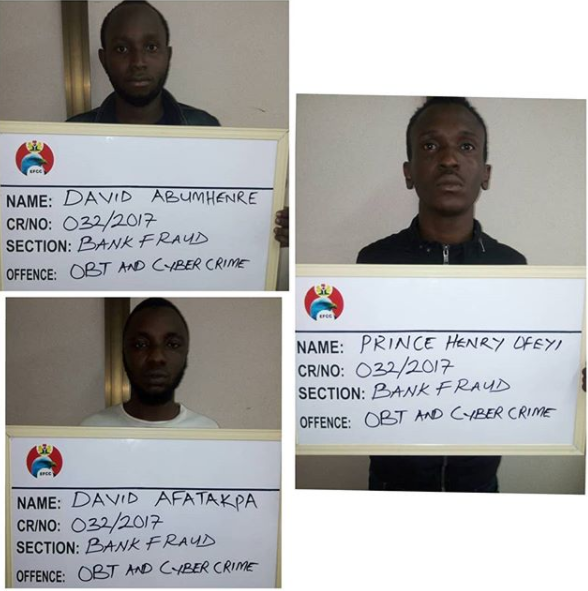 Three students jailed?for Internet fraud in Edo State (Photo)