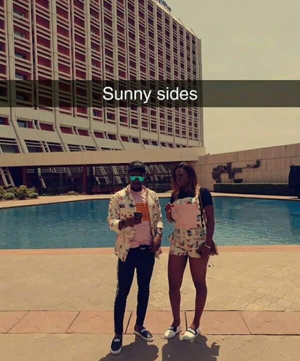 BBNaija's Alex and Tobi rock matching outfits as they visit Kiki Osinbajo