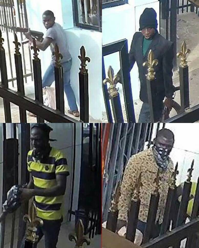 Offa Robbery: Police release photos of four of the robbers, announce N5m reward for anyone with information that will help in their arrest