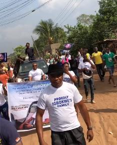 BBNaija winner, Miracle received like a king in his hometown (videos)