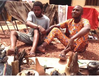 Photo: Two herbalists arrested for fraud in Enugu State