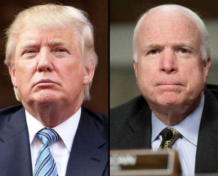 Ailing Senator John McCain plans his own funeral and forbids President Trump from attending when he finally dies