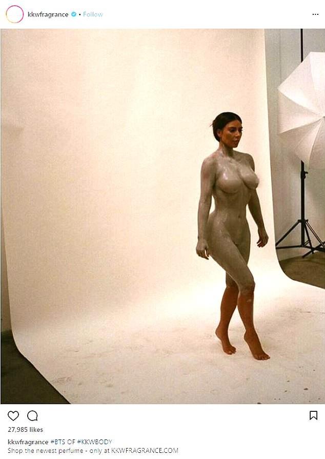 Kim Kardashian shares full-frontal nude photo from KKW fragrance photo shoot