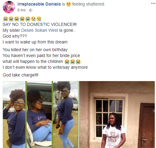 Lady stabbed to death by her baby daddy on her birthday after she gave him a