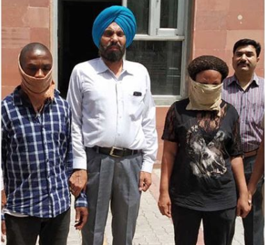 Nigerian couple arrested with heroine, cocaine in India (Photo)