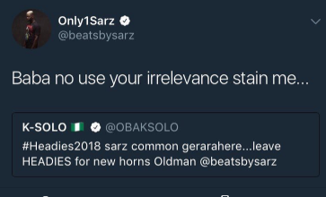 Music producers, K-solo and Sarz slam each other on Twitter