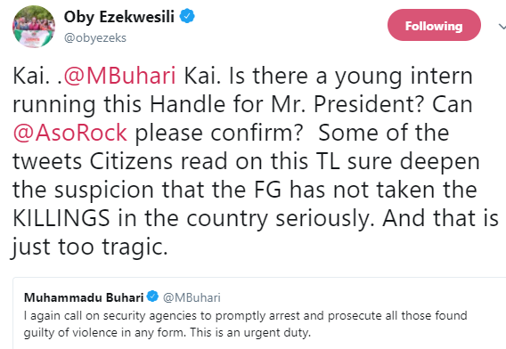Oby Ezekwesili wonders who actually handles president Buhari