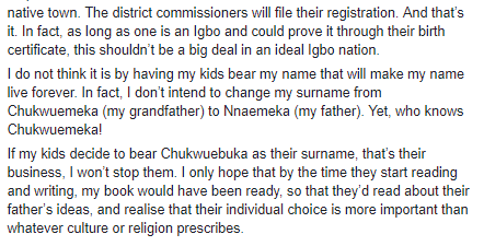 """I wouldn?t mind my kids bearing their mother?s surname and nativity,"" Nigerian male feminist says and gives reasons"