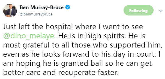 Ben Bruce gives update on Dino Melaye