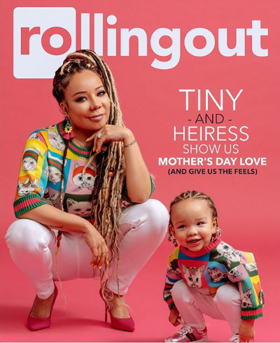 Tiny Harris and her daughter stun on the cover of Rollingout for its Mother