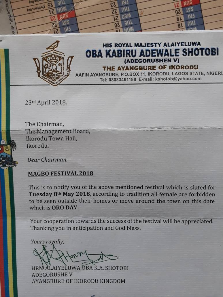 Oro day: Lagos police reacts to Ikorodu monarch