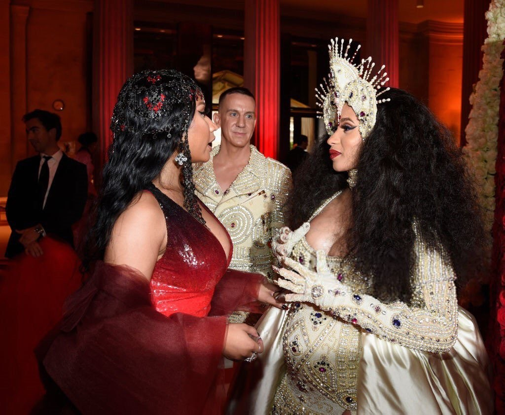 Photos of Cardi B & Nicki Minaj conversing at the MET Gala has the internet buzzing