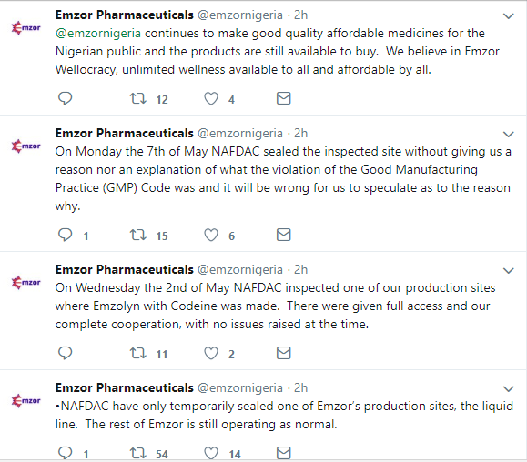 Emzor reacts to closure of production site by NAFDAC