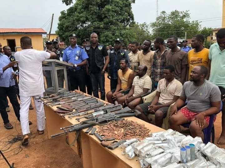 Photos: Police arrest arms dealers in Benue state