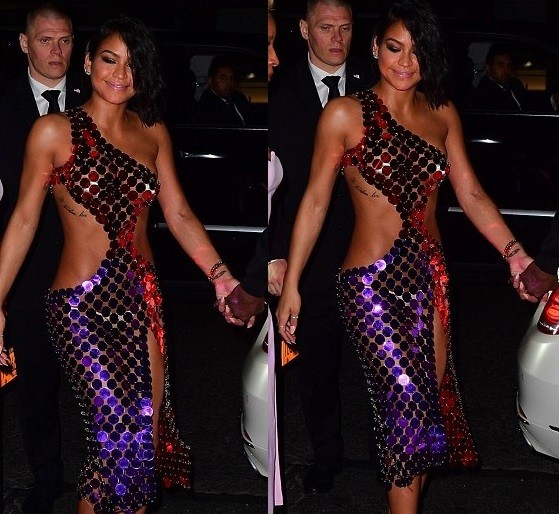 Cassie suffers wardrobe malfunction, flashes her skimpy underwear in racy ensemble to Met Gala after party (Photos)