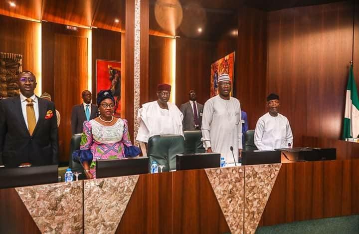 Vice President Yemi Osinbajo presides over Federal Executive Council meeting(photos)
