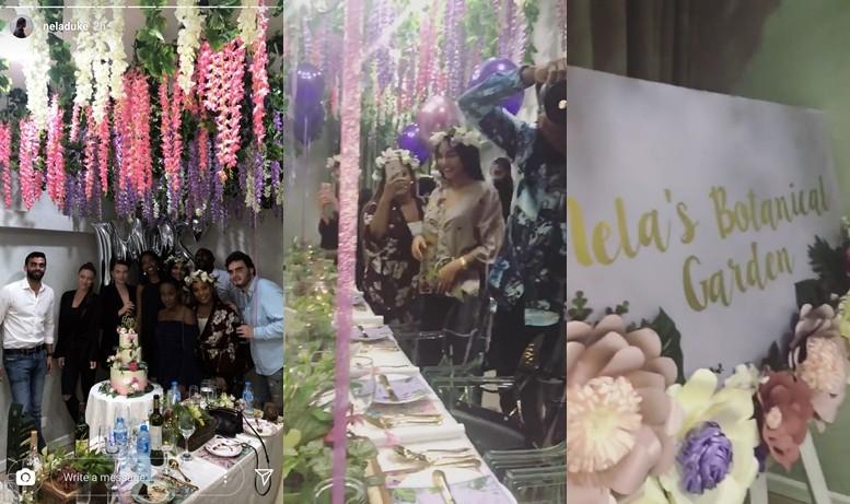 Photos from the botanical garden themed bridal shower of Donald Duke