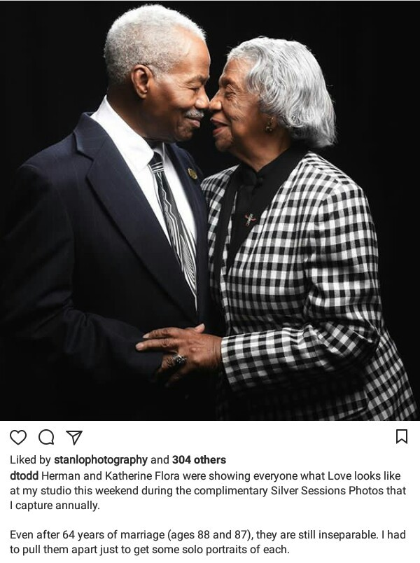 Inseparable! Black couple celebrate 64th wedding anniversary with beautiful photo