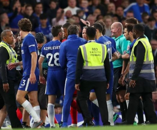 Chelsea charged by English FA for failing to control players during 1-1 draw with Huddersfield
