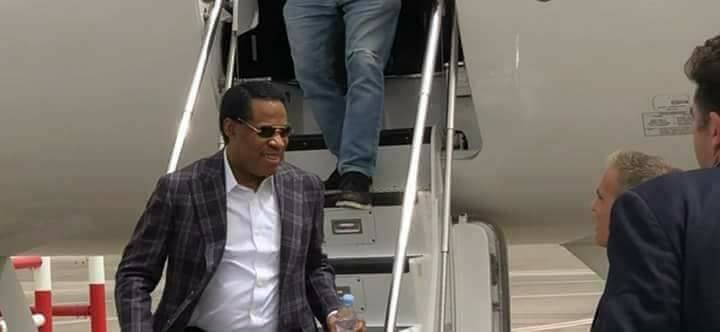 Photos of Pastor Chris Oyakhilome arriving Israel in his private jet