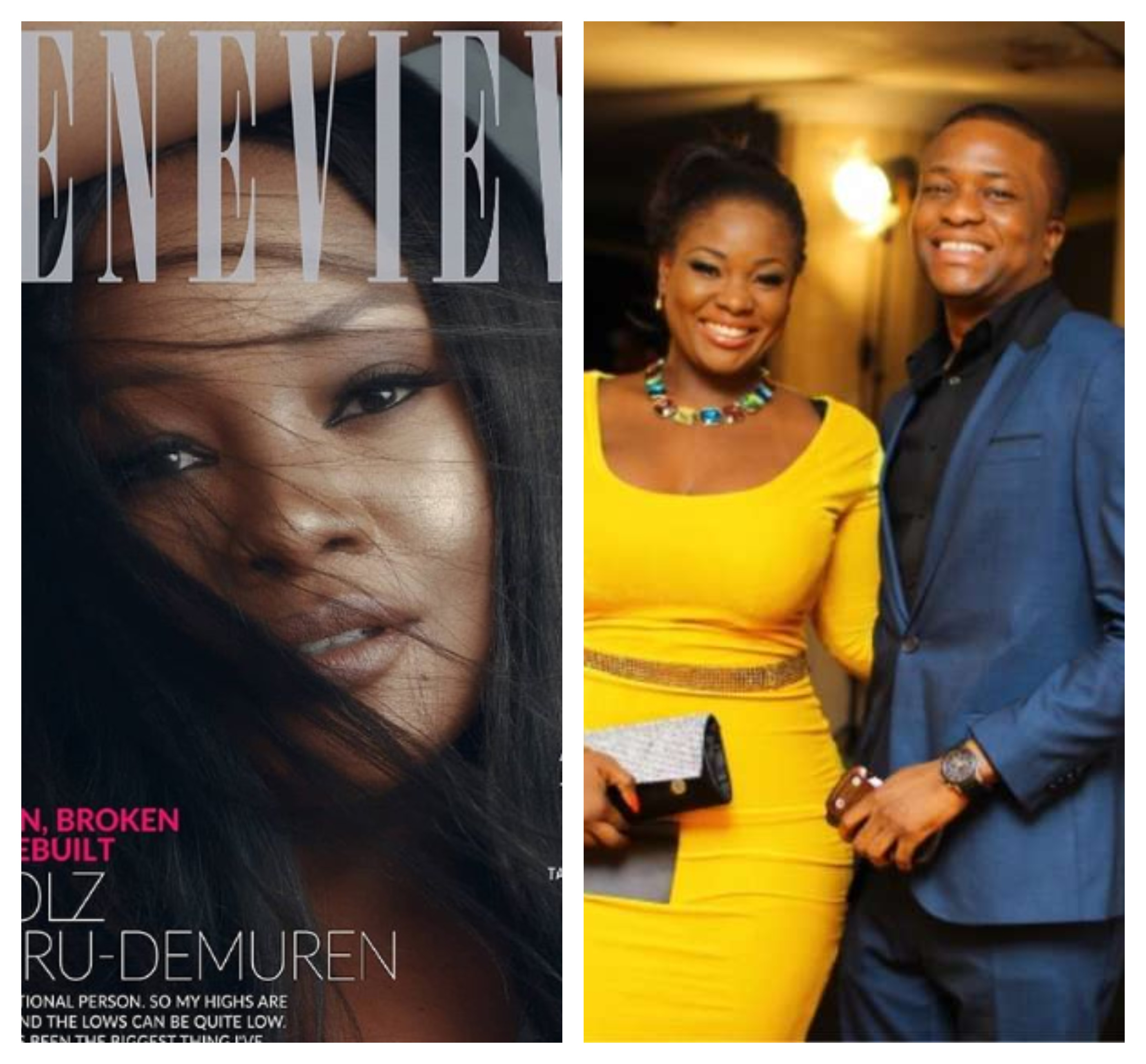 Tunde Demuren speaks on why he allowed his wife, OAP Toolz speak about their trials and tribulation in her Genevieve magazine interview