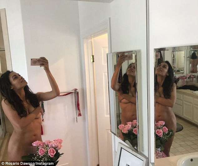 Actress Rosario Dawson celebrated her 39th birthday by sharing nude pics?(Photos/Video) 18+