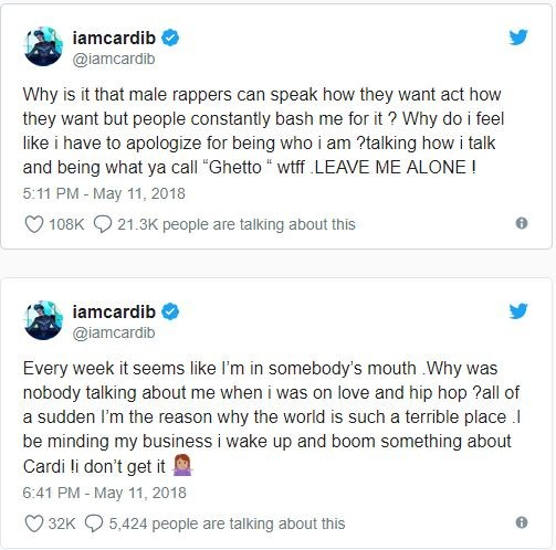 Azealia Banks and Cardi B drag the hell out of each other on Twitter (Screenshots)