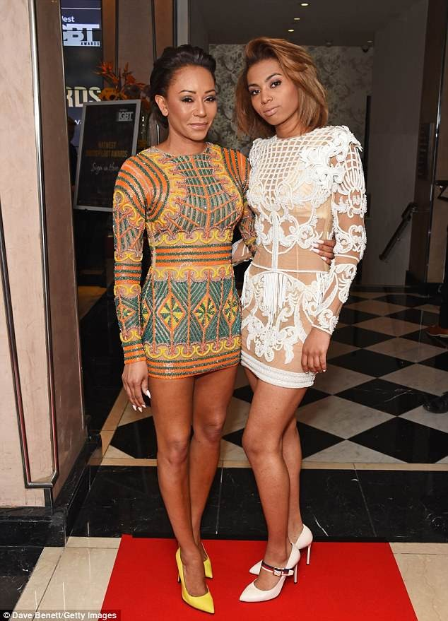 Mel B, 42, and her lookalike daughter Phoenix, 19, rock glittering mini dresses to star-studded LGBT Awards (Photos)?