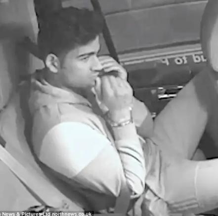 Racer breaks down in police car when he realises he
