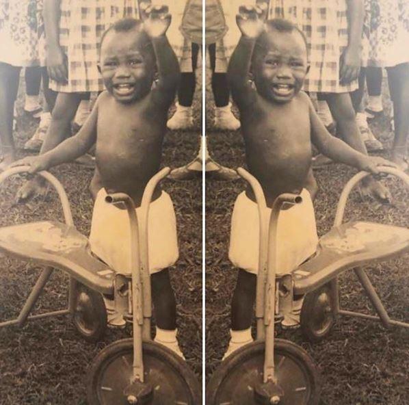 Photo of billionaire business man Femi Otedola as a toddler?