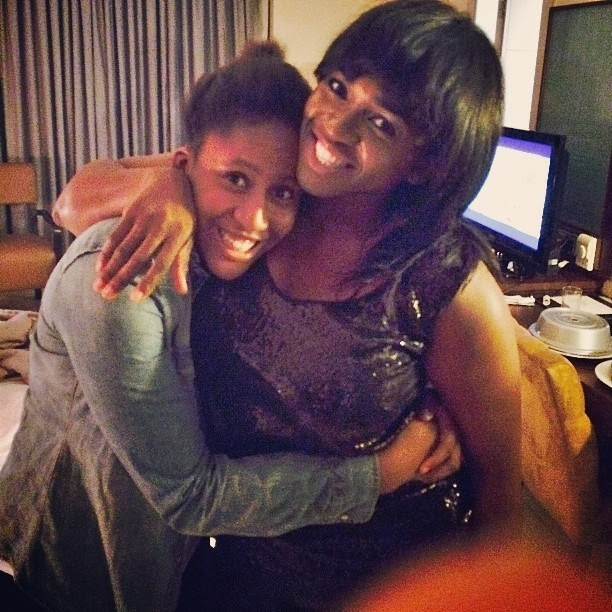 Cute throwback photo of singer Waje and her daughter, Emerald