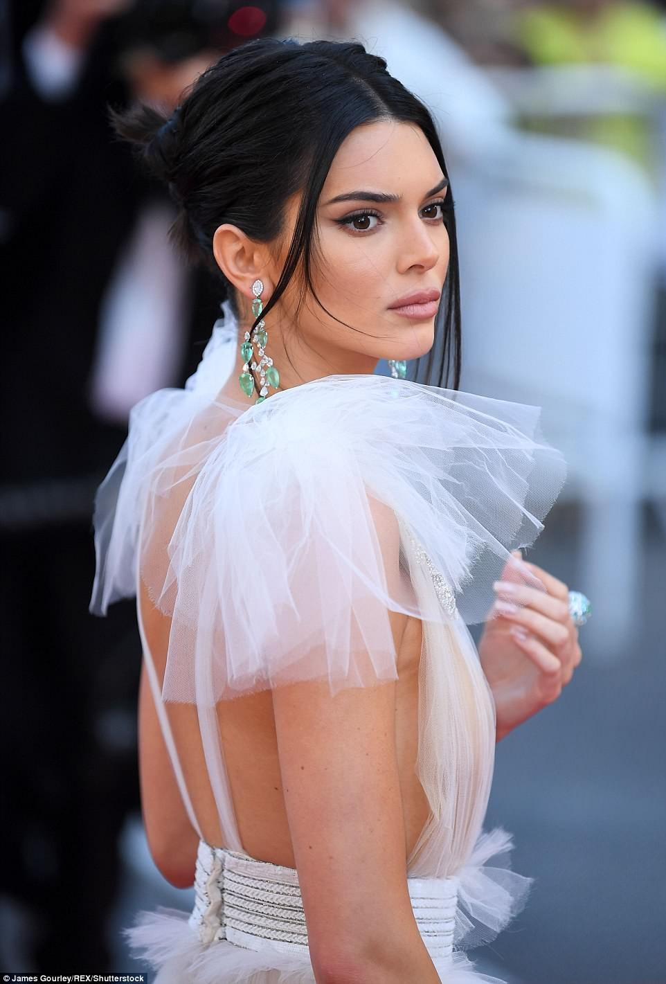 Kendall Jenner goes braless in daring transparent gown for the Girls of the Sun premiere at 71st Cannes Film Festival (Photos)