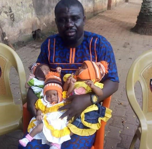 Update: Edo man who abandoned his wife after she delivered triplets, returns home