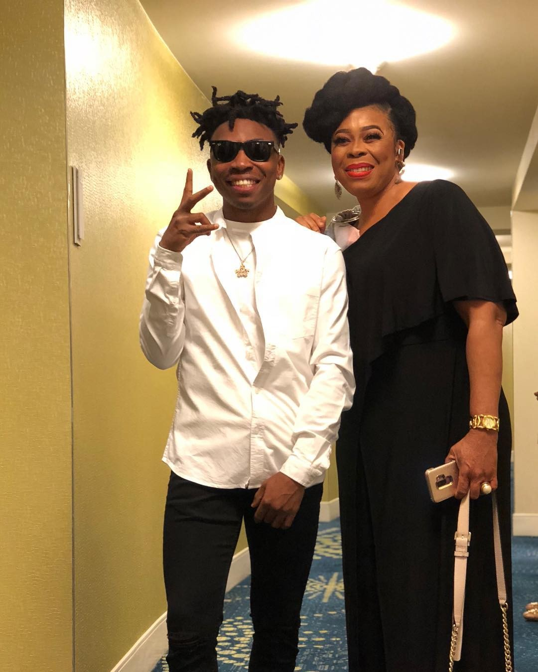 Mayorkun and his mother, Toyin Adewale reunite after 2 years apart