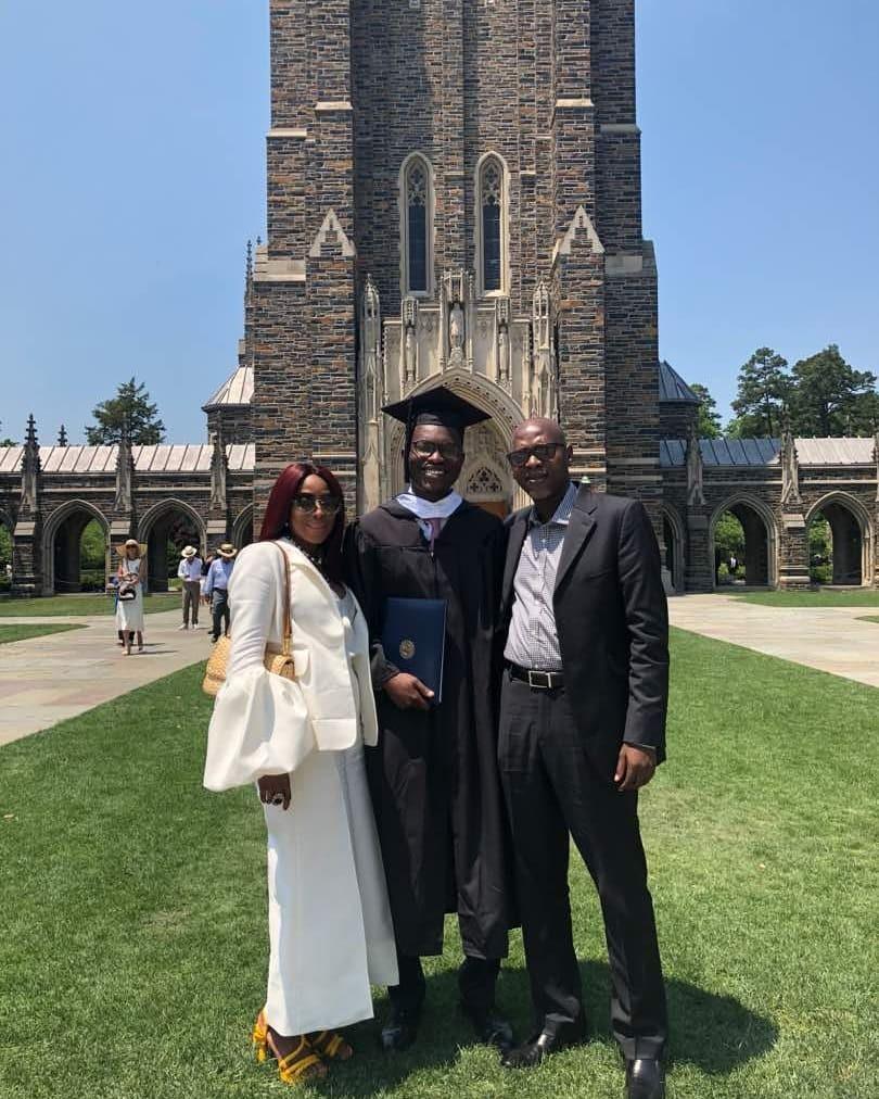 Mo Abudu celebrates son Adekoyejo as he graduates from Duke University (photos)