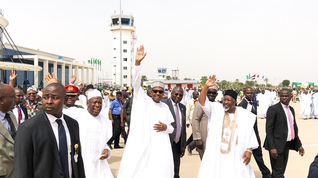 Photos: President Buhari arrives Jigawa state on a two-day working visit