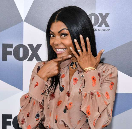 Taraji P Henson proudly flaunts her engagement ring (photos)