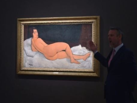 Photo: Nude painting by Italian artist?sells for $157m at New York auction