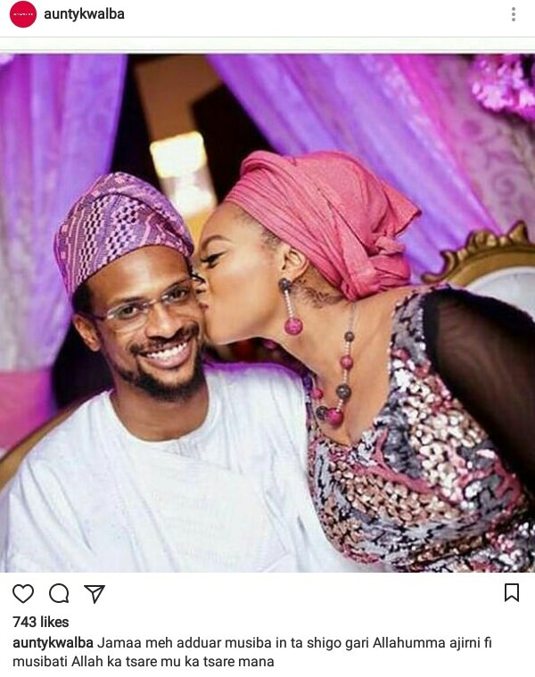 "Fatima-Ganduje Ajimobi and her husband, Idris come for a ""destructive Hausa blogger"""