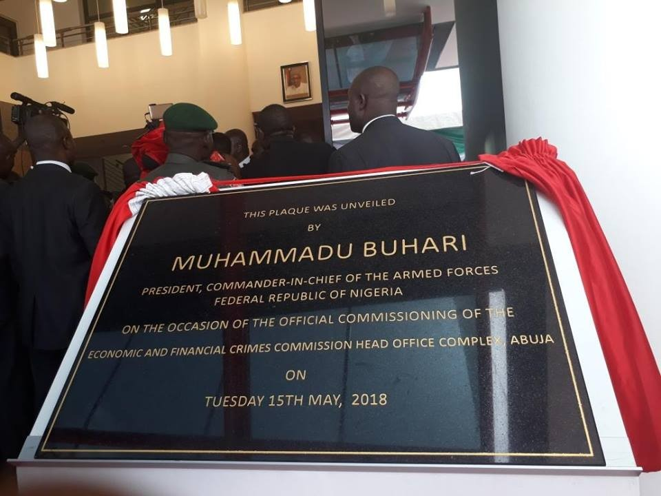 Photos: President Buhari commissions EFCC