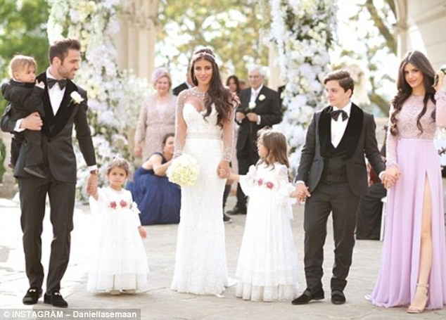 Chelsea and Spanish midfielder Cesc Fabregas ties the knot with his fiancee Daniella Semaan (Photos)