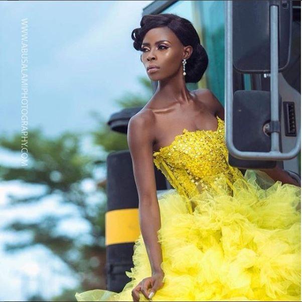 BBNaija star Khloe rocks strapless dazzling gown in new photos