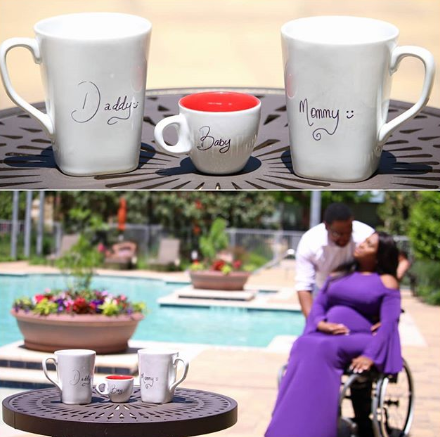 Differently-abled Nigerian blogger, Lizzy Omoraghon, and her hubby expecting their first child (photos)