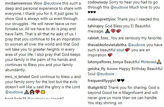 Fans sympathise with Ludacris' wife Eudoxie after revealing she had a miscarriage and underwent surgery (Screenshots)