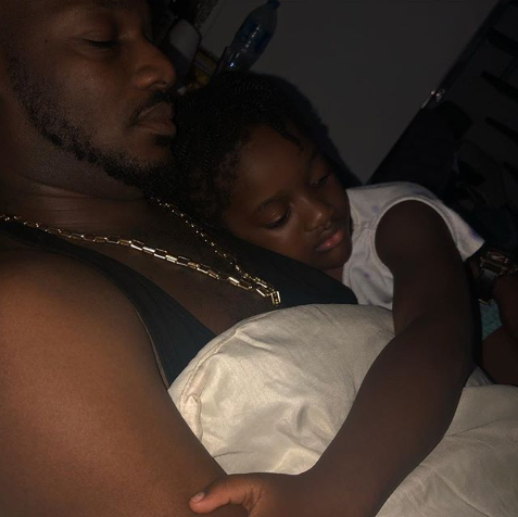 "Annie Idibia shares adorable photo of her youngest daughter cuddling up to her ""first love"""