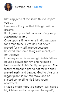 Inspiring story of woman who resolved to?build her own house after herman, who she built with, left her for another soon after their house was completed